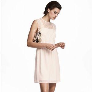 H M cream cocktail dress